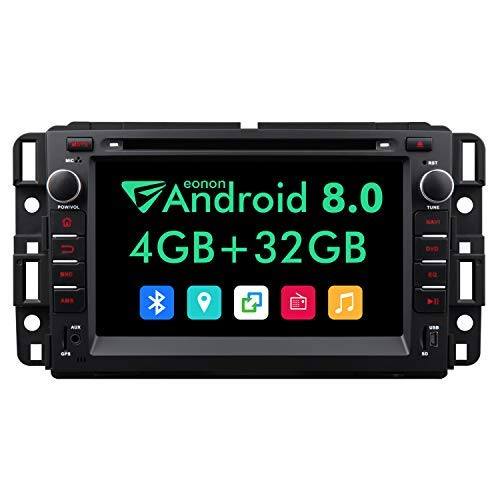 2019 Double Din Android Car Stereo,7 Inch Eonon in Dash Android 8.0 Car Radio,4GB +32GB Octa-Core Car Android Head Unit Applicable to Chevrolet GMC Silverado Express Avalanche Acadia Impal-GA9180A