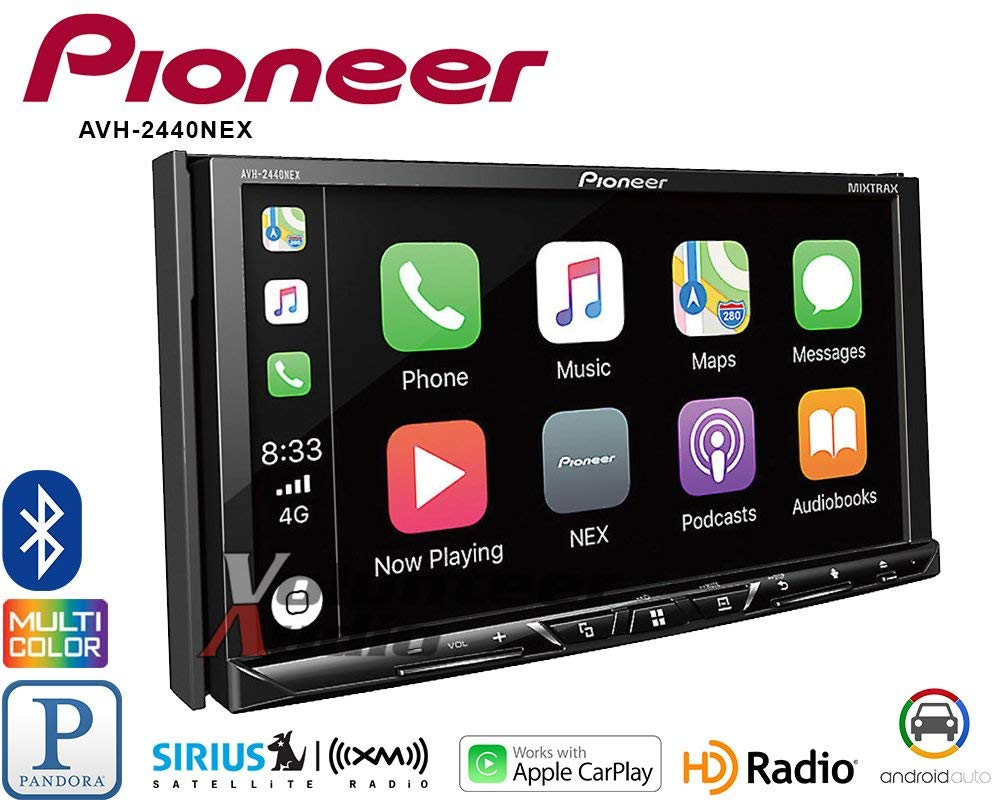Pioneer AVH-2440NEX Android Car Stereo Double Din Radio with Apple CarPlay, Android Auto and Bluetooth