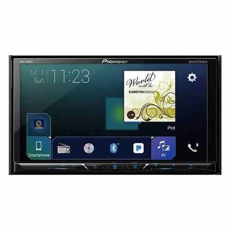 "Pioneer AVH-2300NEX Multimedia DVD Receiver with 7"" WVGA Display/Apple CarPlay/Android Auto/Built-in Bluetooth/SiriusXM-Ready/AppRadio Mode"