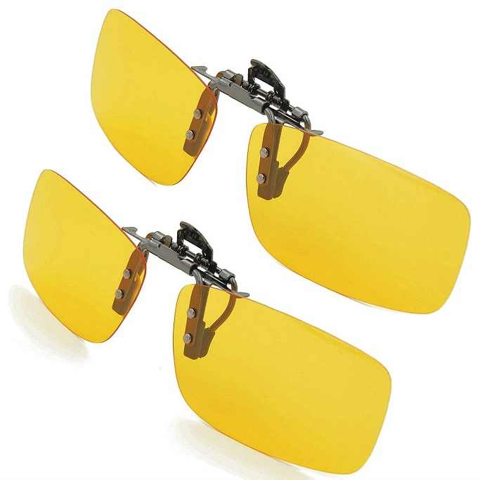 Clip-on Sunglasses, Splaks Frameless Rectangle Lens