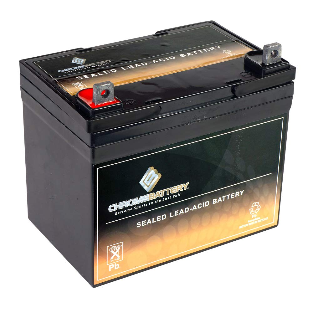 Chrome Battery 12V Wheelchair Battery Replaces Rechargeable Batteries