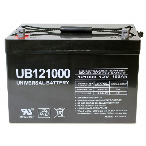 Universal Power Group 100Ah Solar Wind