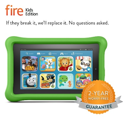 "Fire Kids Edition Tablet, 7"" Display, 8 GB, Green Kid-Proof Case Tablet for Kids"