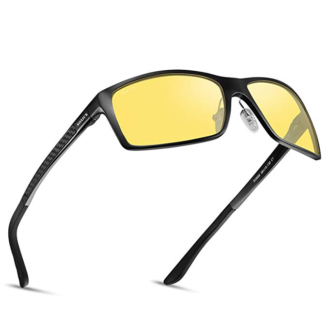 SOXICK Night Vision Glasses for Driving - Adjustable Polarized HD Driver Glasses For Men Women