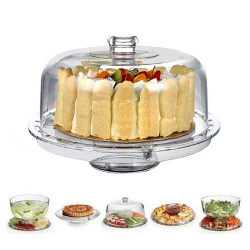 HBLife Acrylic Cake Stands With Dome