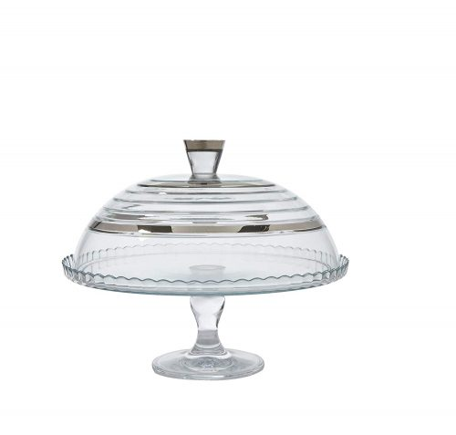 Glazze Crystal Cake Plate with Glass Cover
