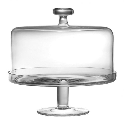 Barski Glass Cake Stand with Dome