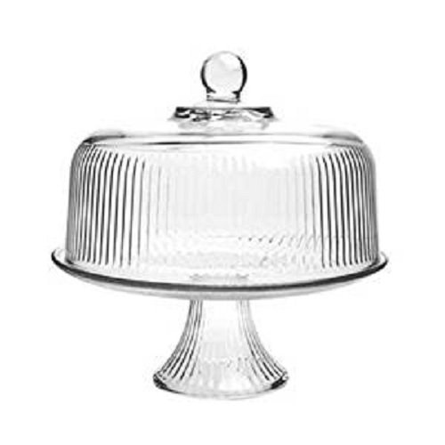 Anchor Hocking Monaco Glass Cake Stand