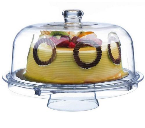 Tebery Acrylic Cake Stands with Dome