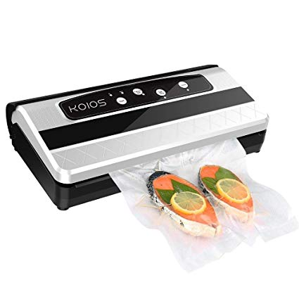 Enhanced Koios TVS-2150 Vacuum Sealer 2-in 1 Automatic Vacuum Sealing for food