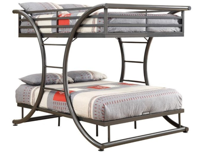 Stephan Full over Full bed Gunmetal