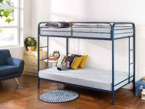 -Twin Over Full Metal Bunk Beds with Stairs