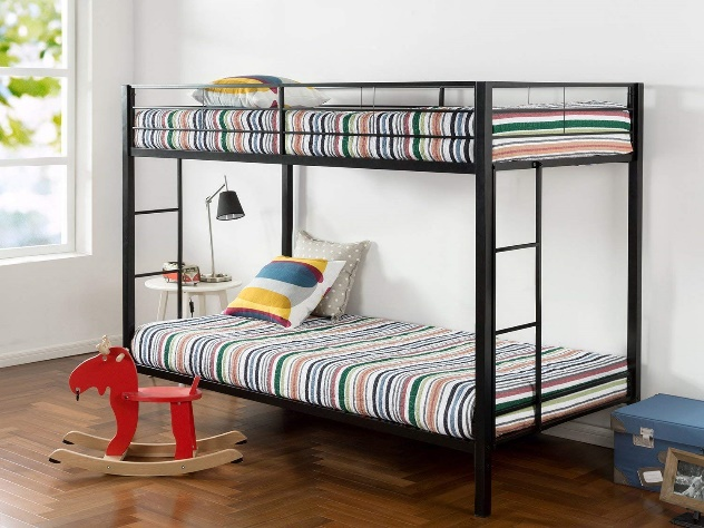 Zinus Quick Lock Twin Metal Bunk Bed
