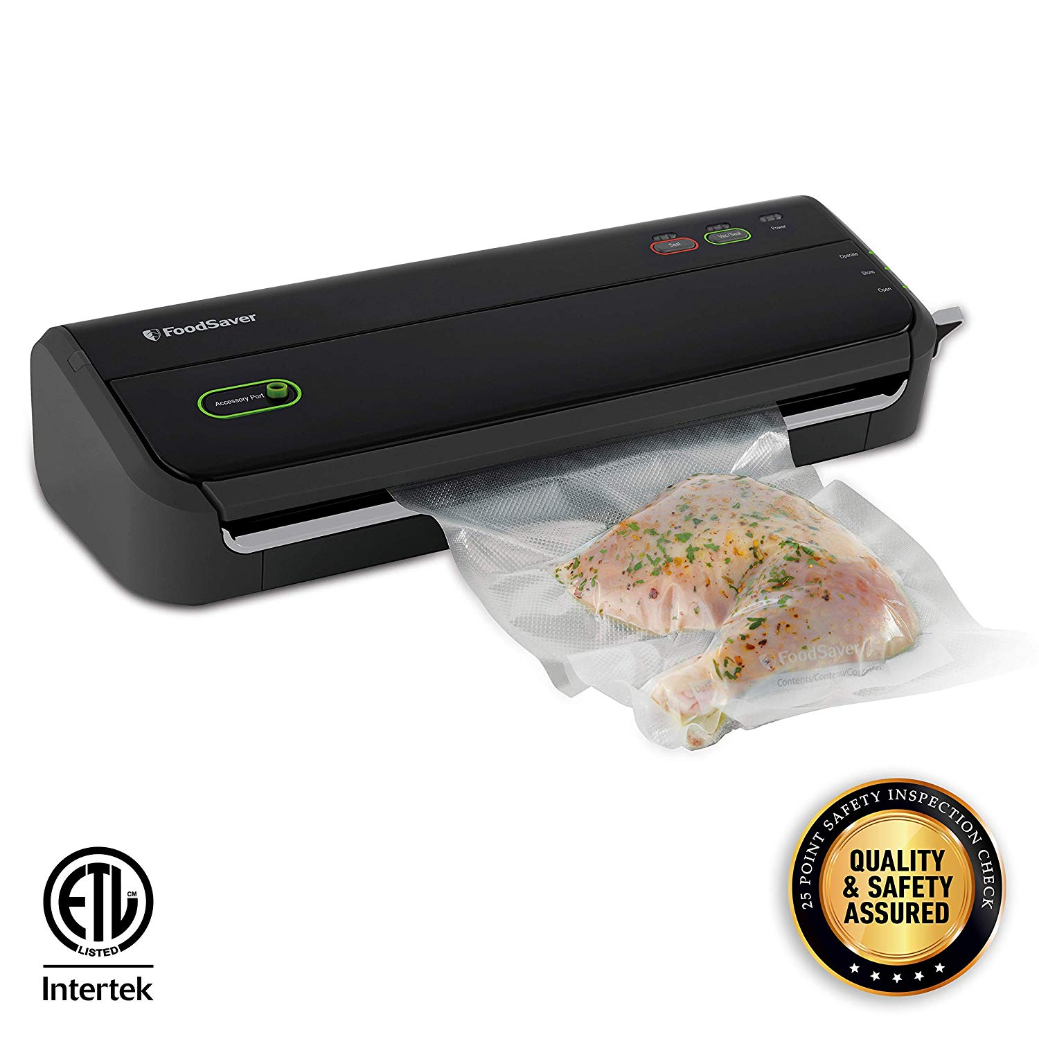 Foodsaver FM2000 Vacuum Sealer Machine with Bags and Rolls Starter kit/ ETL Safety