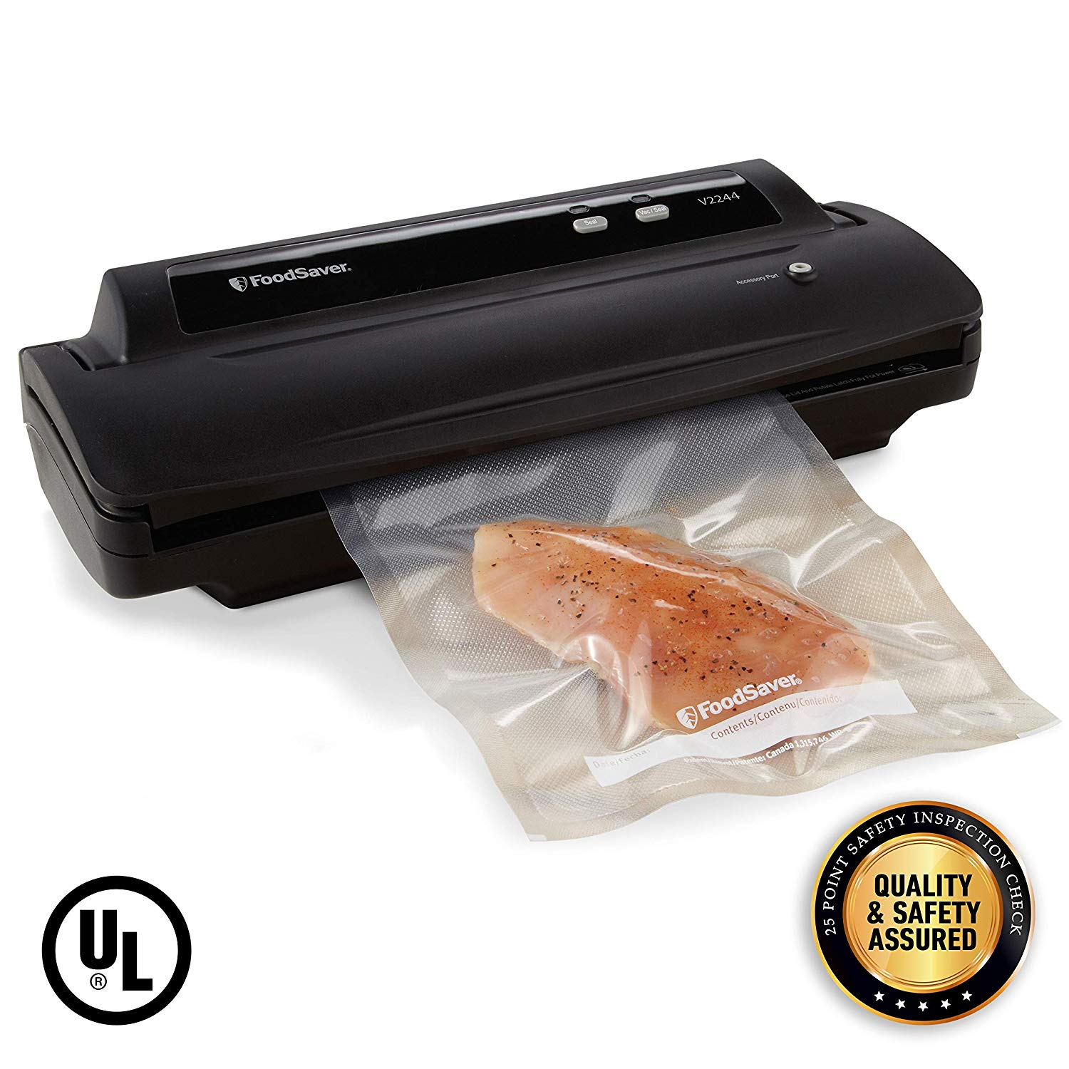 Foodsaver V2244 Vacuum Sealer Machine for Food Preservation with Bags and Rolls