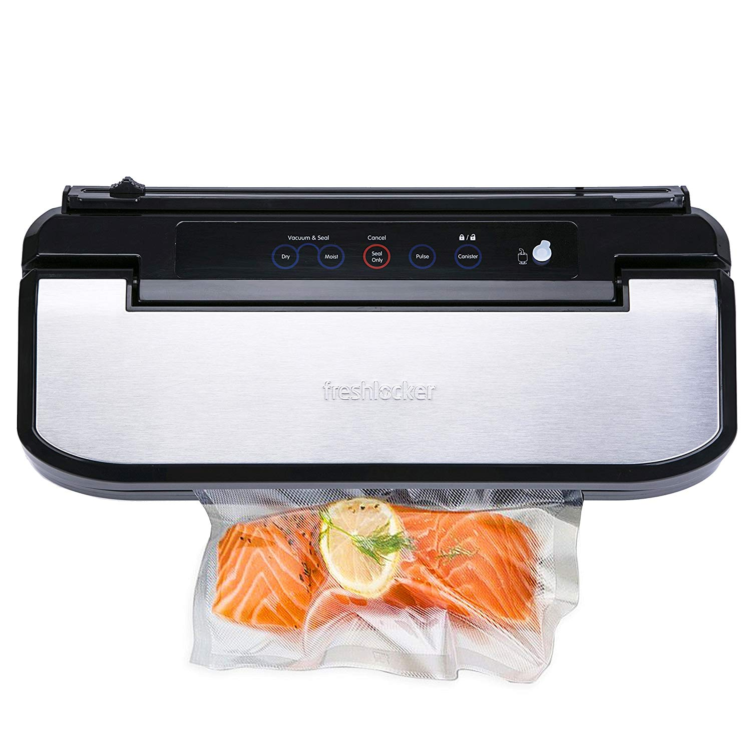 Freshlocker VS160S Vacuum Sealer Automatic Air Sealing System Machine with Starter Bags and Rolls