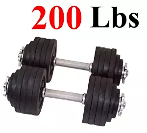 One Pair of Adjustable Dumbbells Kits-200lbs (100lbs by 2)