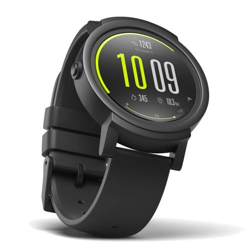 Ticwatch E most comfortable Smartwatch-Shadow, 1.4 inch OLED Display, Android Wear 2.0, Compatible with iOS and Android, Google Assistant