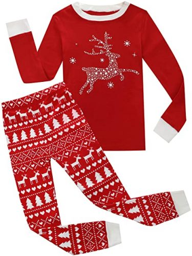 Boys Christmas Pajamas Kids 100% Cotton