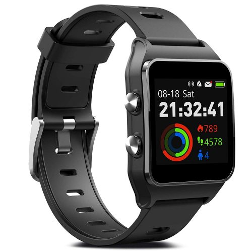 The FITVII GPS Smartwatch with 17 Sports Mode Activity Tracker IP68 Waterproof Swimming Touch Screen Watches, Heart Rate Monitor Sleep Trackers with Pedometer Step Calories Counter for Women Men