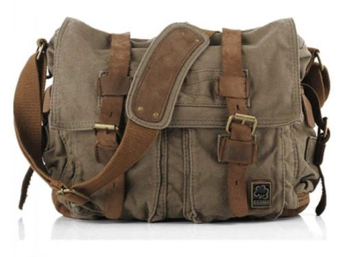Sechunk Vintage Military Leather Messenger Bags Medium - Leather Messenger Bags