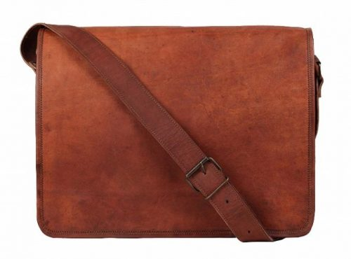 Rustic Town 15-inch Vintage- Leather Messenger Bags