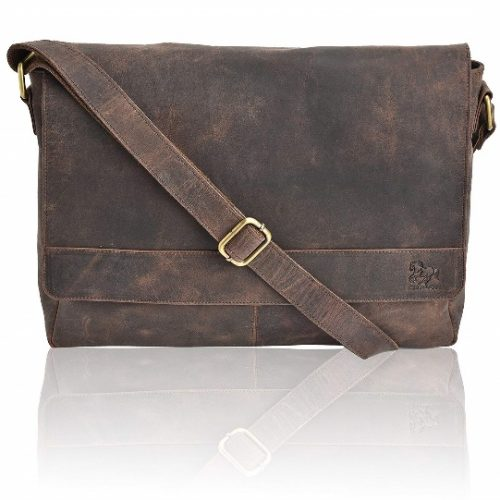 Leather Laptop Messenger- Leather Messenger Bags