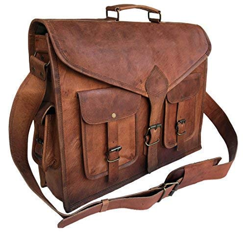 KPL 18 Inch Rustic- Leather Messenger Bags