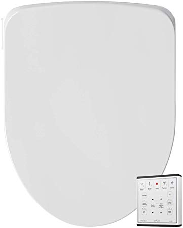 Oasis by Bio Bidet | Bidet Smart Toilet Seat in Elongated White with Stainless Steel Self-Cleaning Nozzle, Nightlight, Turbo Wash, Oscillating, and Fusion Warm Water Technology with Wireless Remote