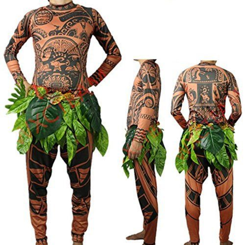FEEAA Maui Tattoo T-Shirt/Pants Halloween Adult Mens Women Cosplay Costume