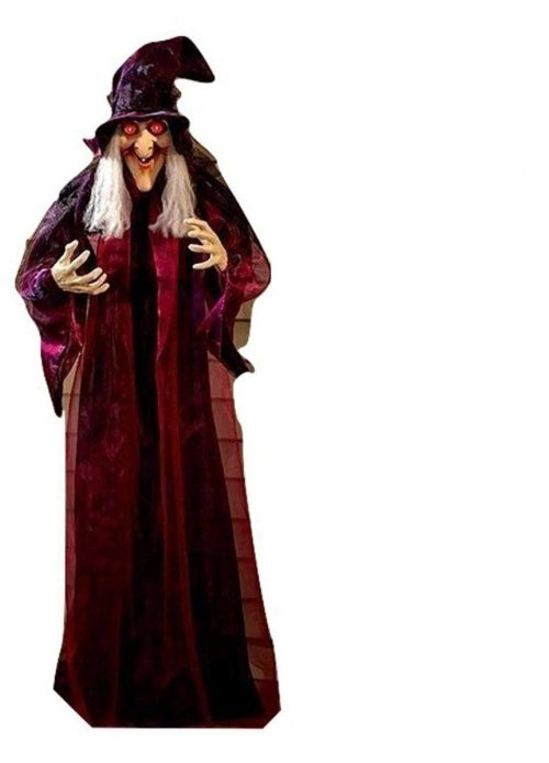 "71"" Life Size Hanging Animated Talking Witch Halloween Haunted House Prop Décor"