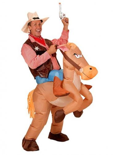 Seasonblow Inflatable Costumes Dinosaur Unicorn Cowboy Costumes Halloween Party Birthday Cosplay Fantasy Fancy