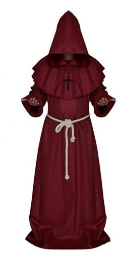 Medieval Monk Robe Priest Robe Halloween Cosplay Costumes Cloak