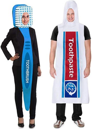 Tigerdoe Toothbrush and Toothpaste Costume - Couple Halloween Costumes