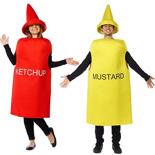 Ketchup and Mustard Costume - Halloween Couples Costumes - Couple Halloween Costumes
