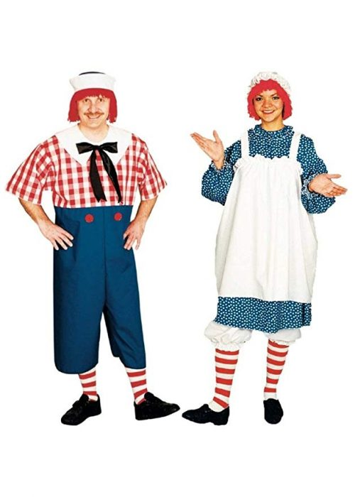 Raggedy Andy and Raggedy Ann Couples Costumes - Couple Halloween Costumes