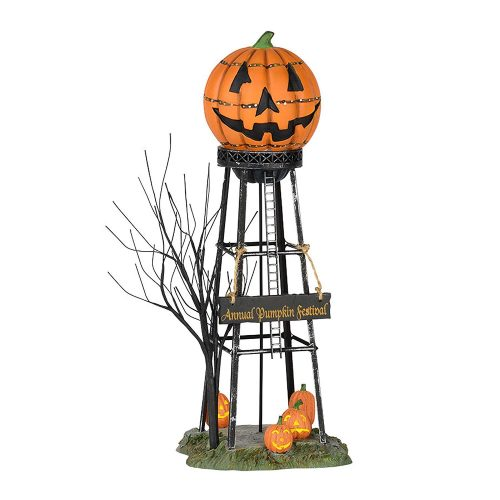 Department 56 56.53223 Halloween Water Tower, Orange