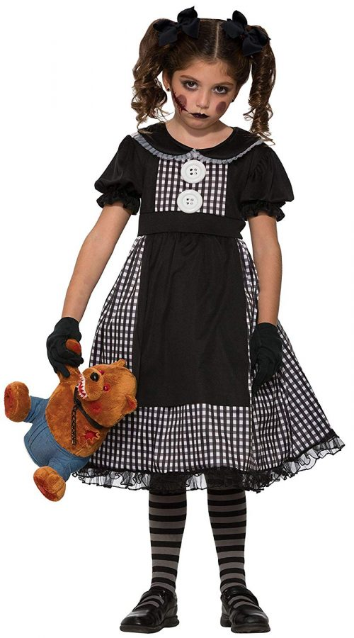 Forum Novelties Kids Dark Rag Doll Costume