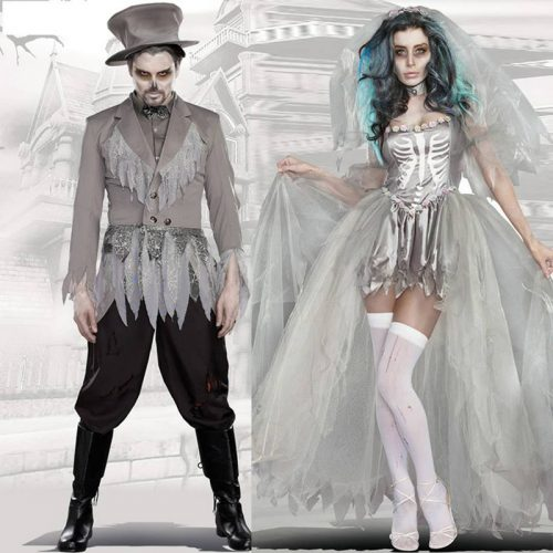 Halloweeen Costumes for Men Women Cosplay Suit Sets for Couples