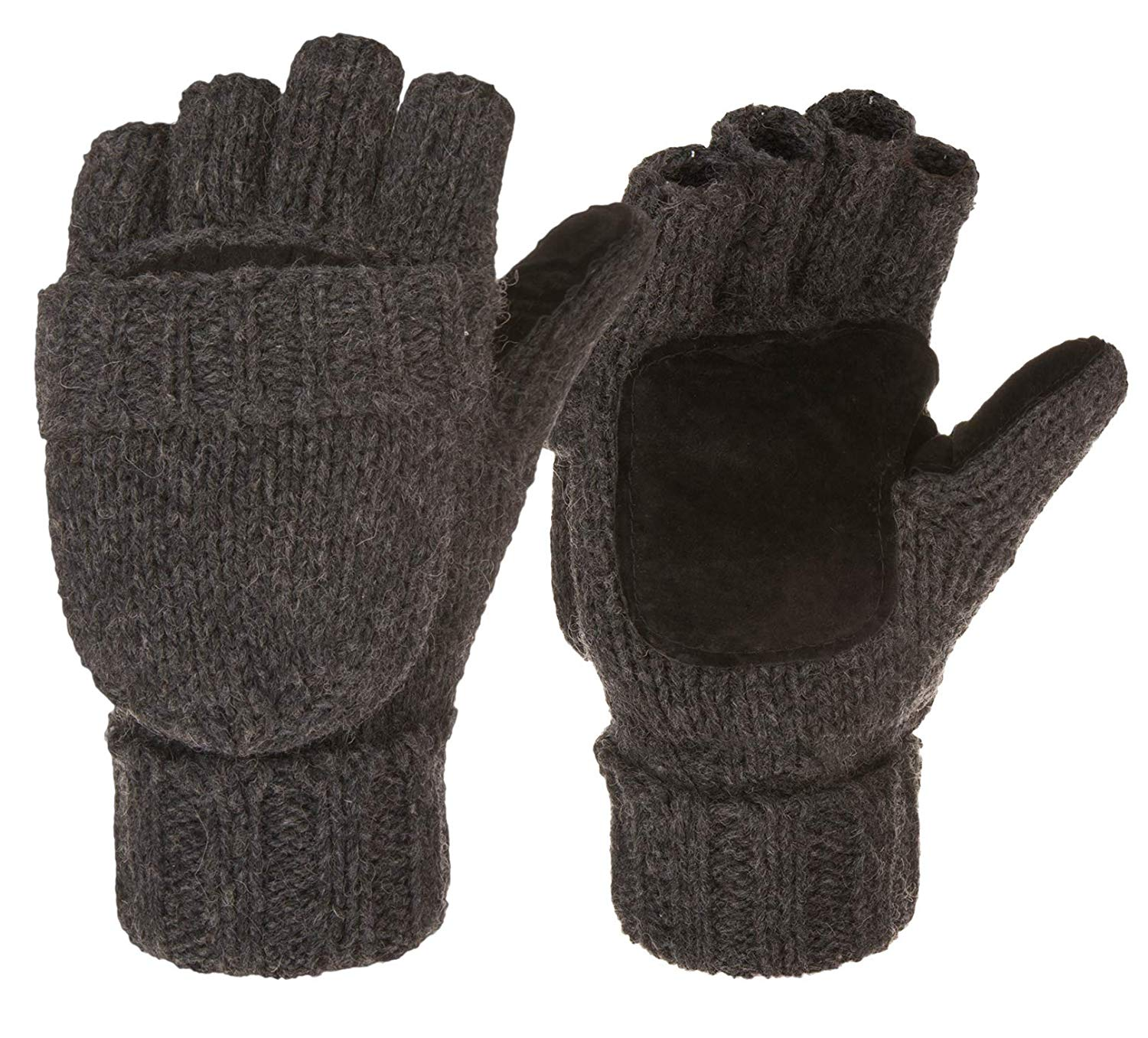 Eianru New Winter Knitted Suede Thinsulate Thermal Insulation Mittens Gloves