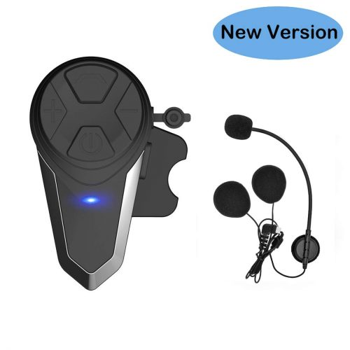 Thokwok Motorcycle Bluetooth Headset, BT-S3 1000m Helmet Bluetooth Communication Systems