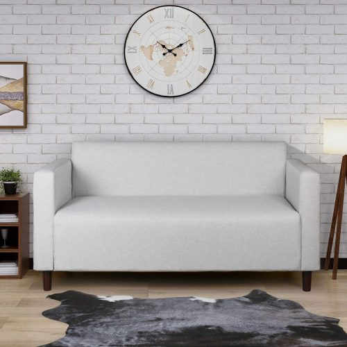 Modern Minimalist Short Back Loveseat Sofa Upholstered Couch Suitable for Living Room, Bedroom, Office Furniture, Total