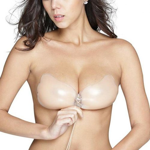 Holly OOOlala Backless Adhesive Sticky Strapless Silicone NudeNubra Pushup Bra