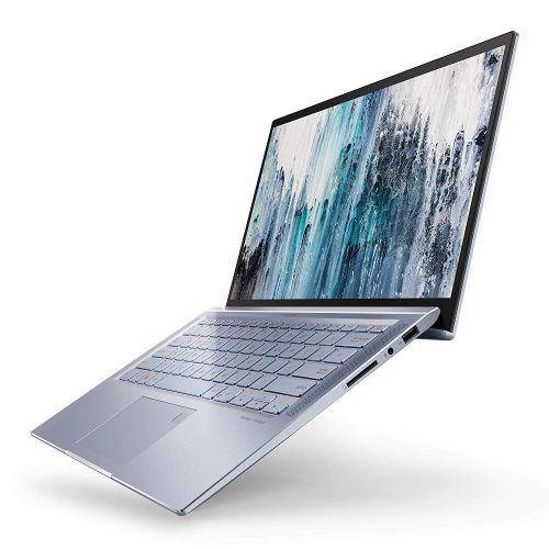 "ASUS ZenBook 14 Ultra Thin & Light Laptop, 4-Way NanoEdge 14"" Full HD, Intel Core i7-8565U, 8GB LPDDR3 RAM, 512GB NVMe PCIe SSD, Wi-Fi 5, Windows 10, Silver Blue, UX431FA-ES74"
