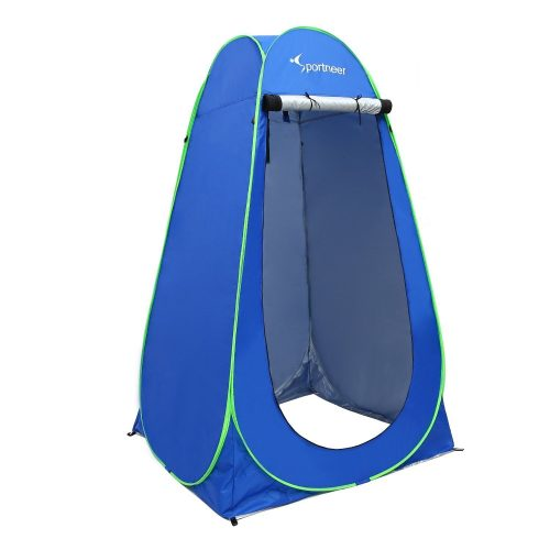 Sportneer Pop Up Camping Shower Tent, Portable Dressing Changing Room Privacy Shelter Tents for Outdoor Camping Beach Toilet and Indoor Photo Shoot with Carrying Bag, 6.25 ft tall