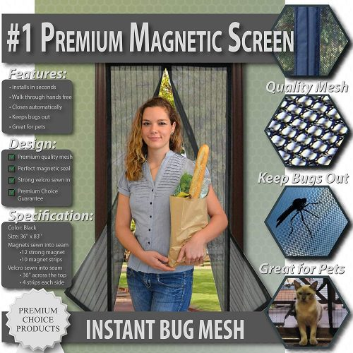 Premium Choice Products Premium Magnetic Screen Door