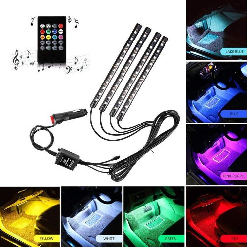 Car LED Strip Light, ONEKA-RGB 4pcs 48LED