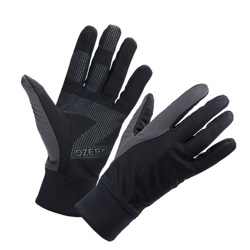 OZERO Men's Winter Thermal Gloves Warm Touch Screen for Driving Cycling Running
