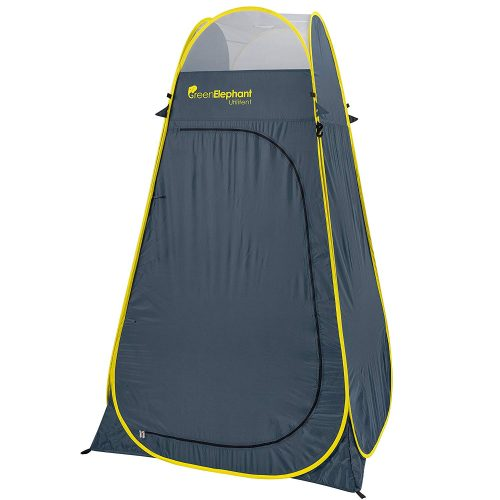 Green Elephant Pop UpUtilitent – Privacy Portable Camping, Biking, Toilet, Shower, Beach and Changing Room Extra Tall, Spacious Tent Shelter.