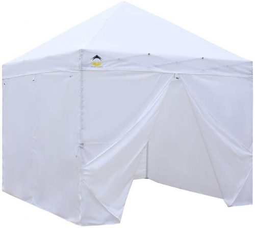CROWN SHADES Patented 10ft x 10ft with 4 Removable Zipper End Sidewalls, White